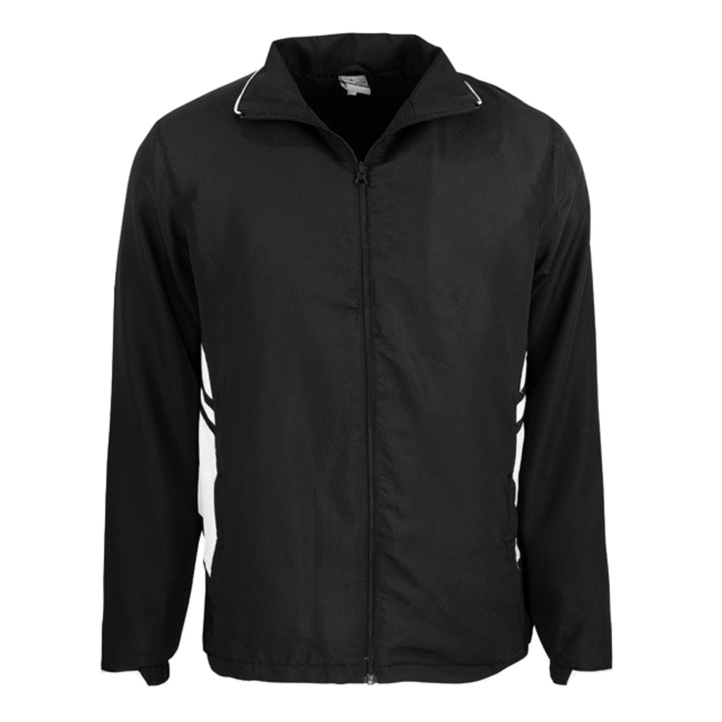 Adults Tasman Track Jacket - Colours Black / White