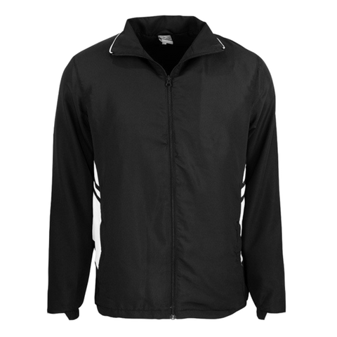 Adults Tasman Track Jacket, Colours: Black / White