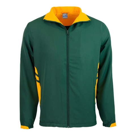Adults Tasman Track Jacket, Colours: Bottle / Gold