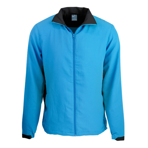 Adults Tasman Track Jacket, Colours: Cyan / Black