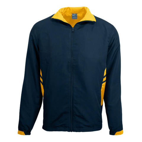 Adults Tasman Track Jacket, Colours: Navy / Gold