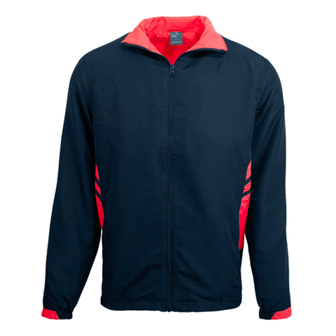 Image of Adults Tasman Track Jacket - Colours Navy / Red
