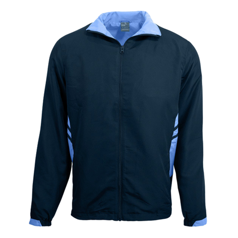 Adults Tasman Track Jacket, Colours: Navy / Sky