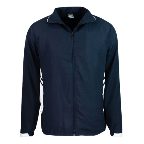 Image of Adults Tasman Track Jacket, Colours: Navy / White