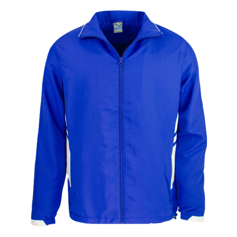 Adults Tasman Track Jacket, Colours: Royal / White