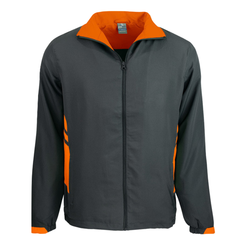 Adults Tasman Track Jacket - Colours Slate / Neon Orange