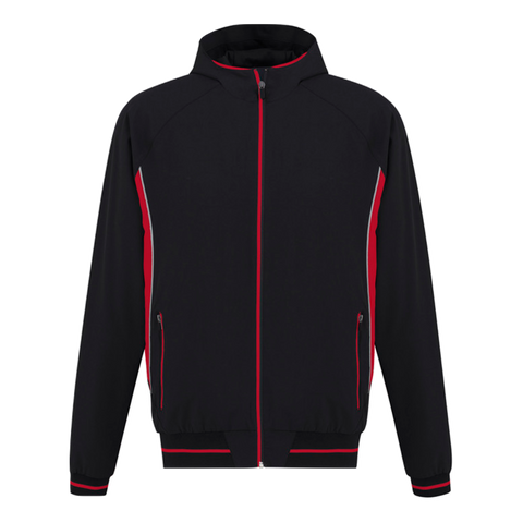 Mens Titan Team Jacket, Colours: Black / Red