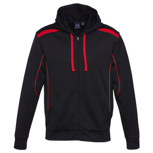 Mens United Hoodie, Colours: Black / Red