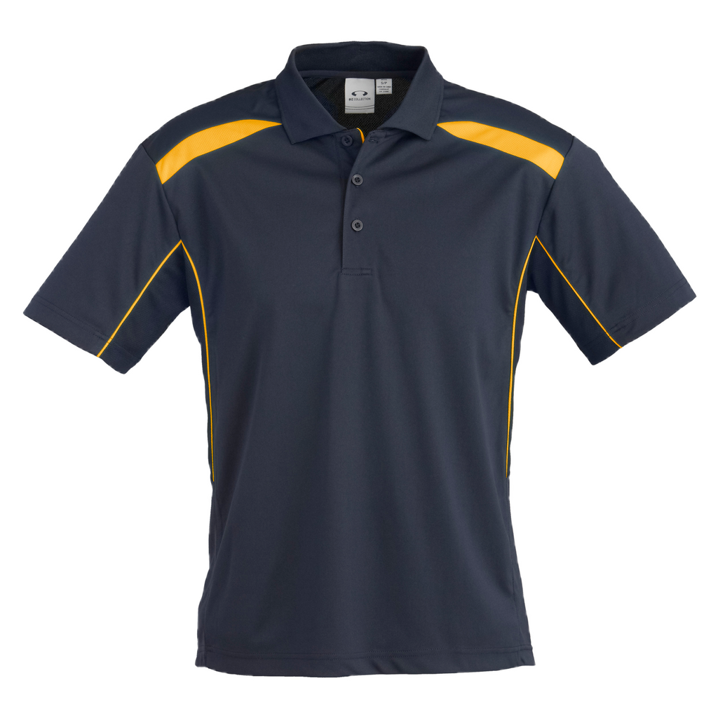 Mens United Polo - Colours Navy / Gold