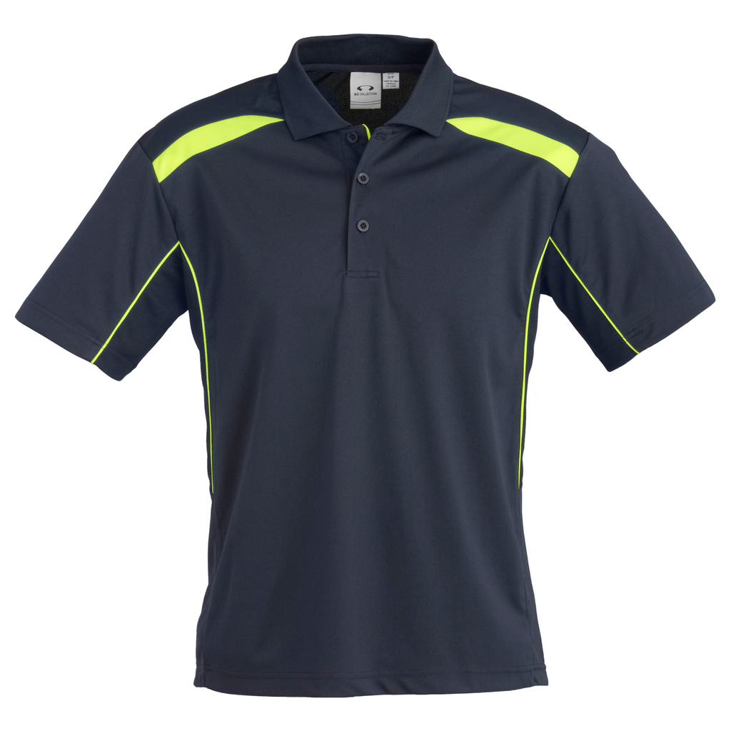 Mens United Polo - Colours Navy / Lime