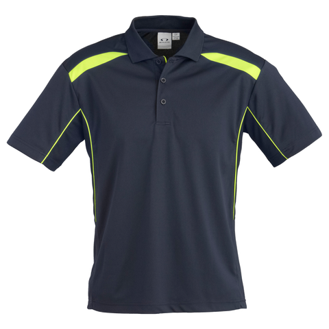 Image of Mens United Polo - Colours Navy / Lime
