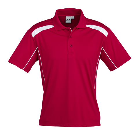 Image of Mens United Polo - Colours Red / White