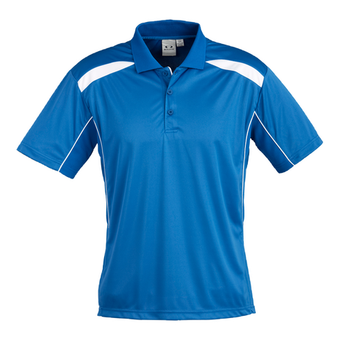 Image of Mens United Polo - Colours Royal / White