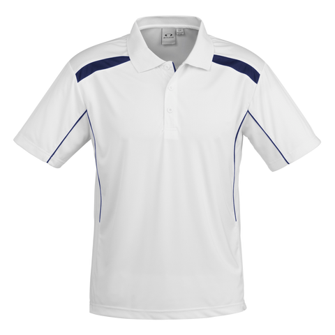Mens United Polo - Colours White / Navy