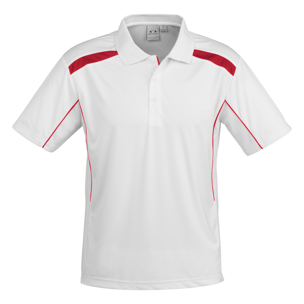 Mens United Polo - Colours White / Red