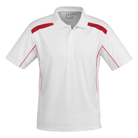 Image of Mens United Polo - Colours White / Red