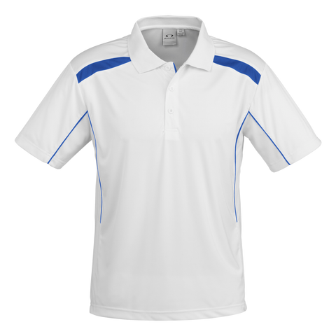 Image of Mens United Polo - Colours White / Royal
