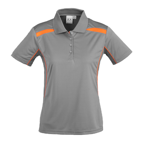Womens United Polo - Colours Ash / Fl Orange