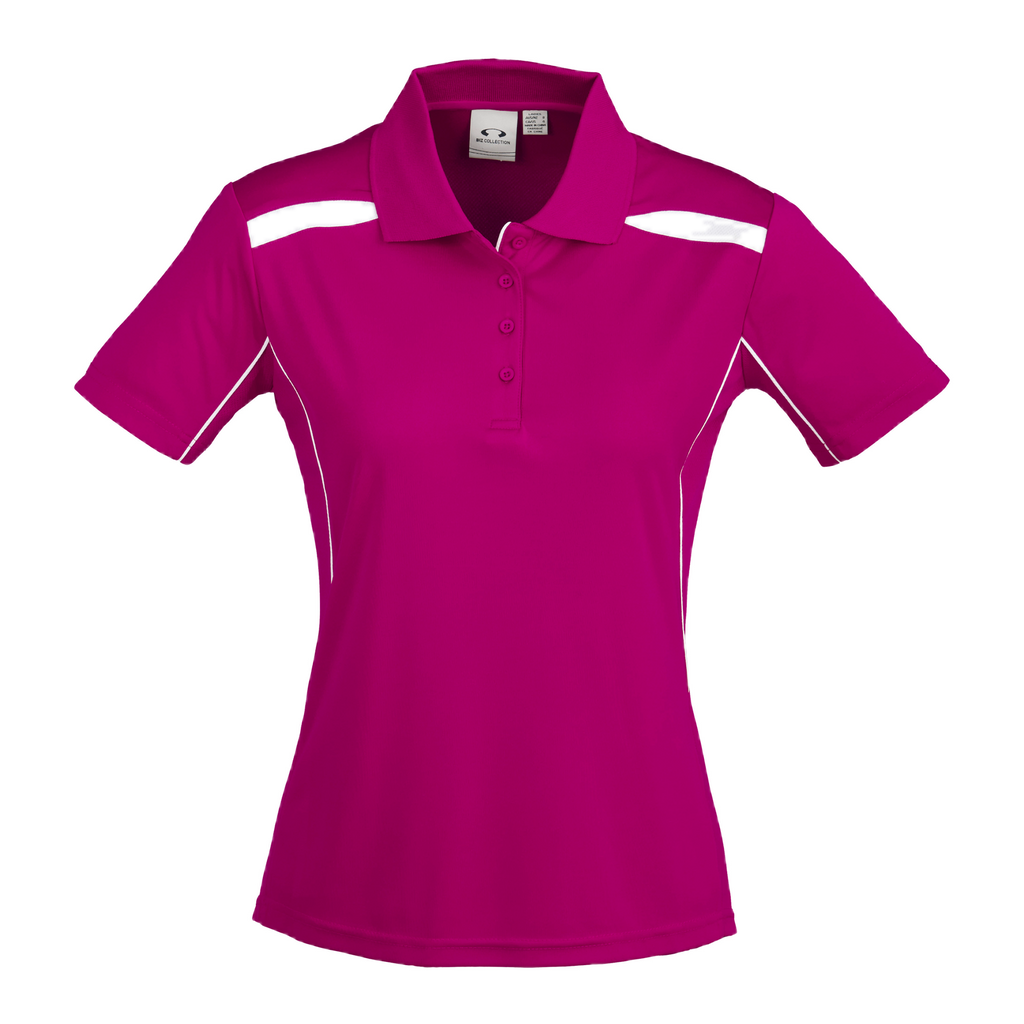 Womens United Polo - Colours Magenta / White