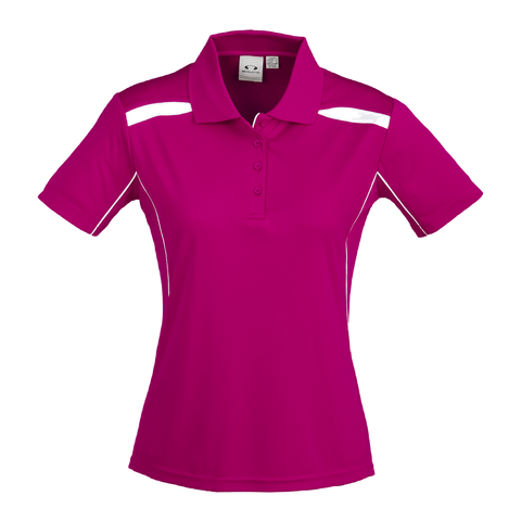 Womens United Polo, Colours: Magenta / White