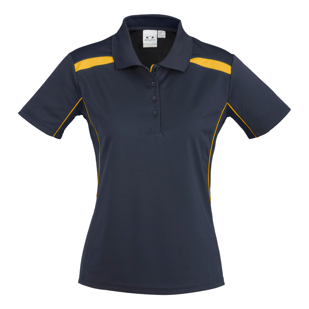 Womens United Polo - Colours Navy / Gold