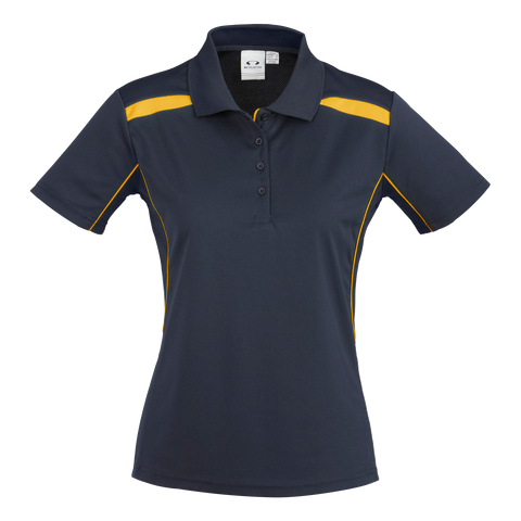 Womens United Polo, Colours: Navy / Gold