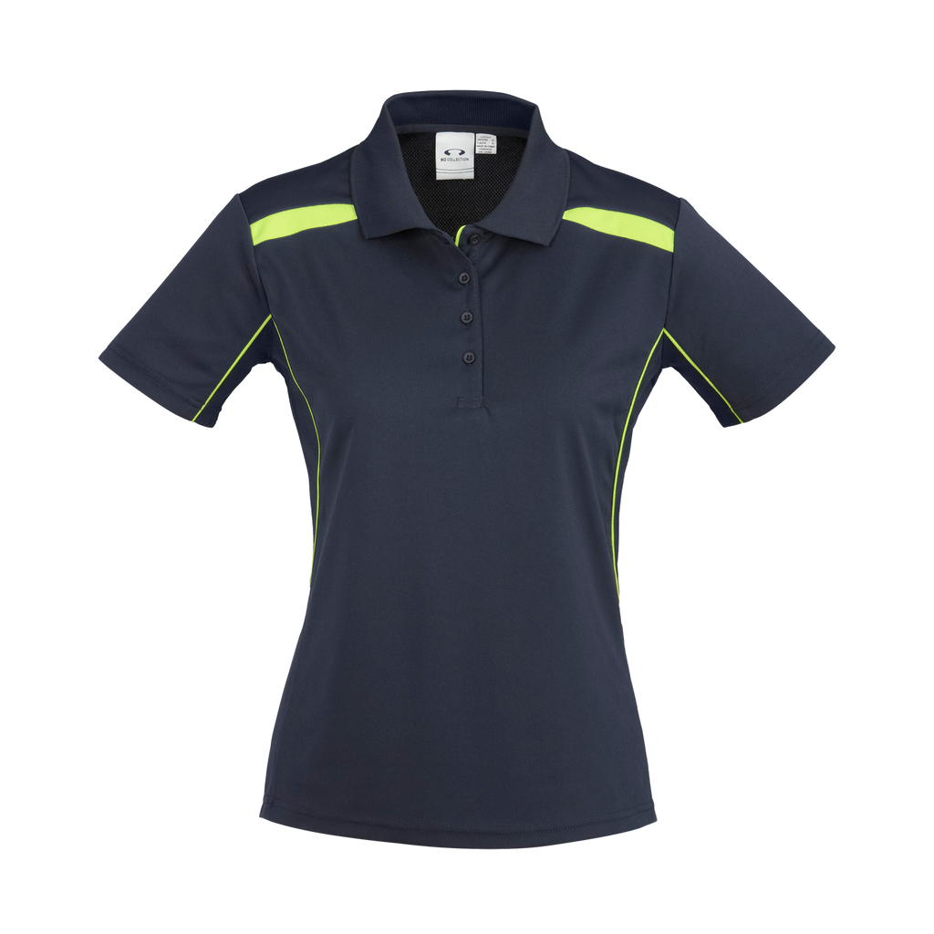 Womens United Polo - Colours Navy / Lime