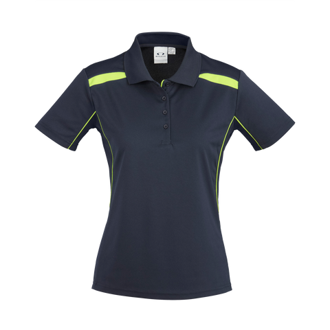 Womens United Polo, Colours: Navy / Lime