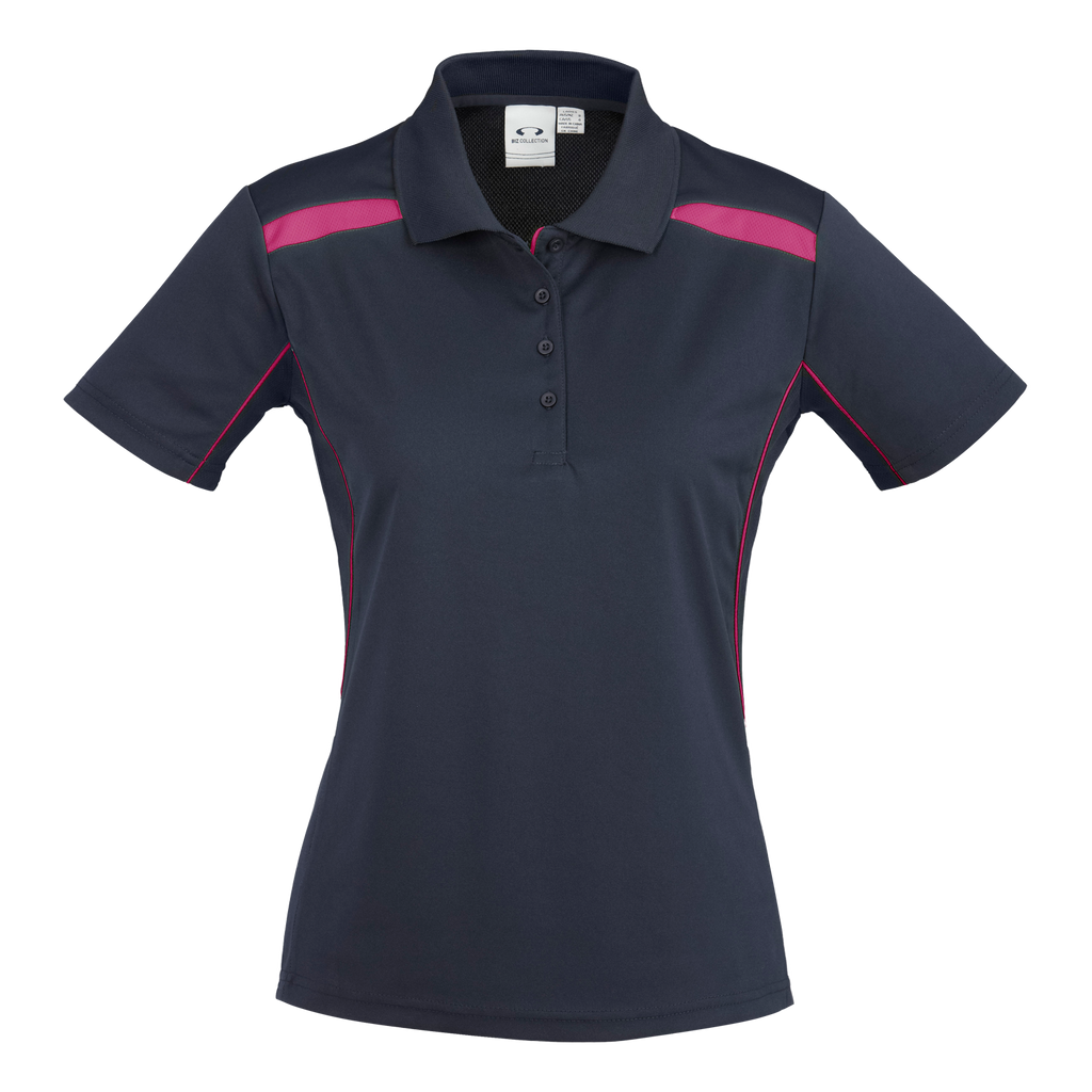 Womens United Polo - Colours Navy / Magenta