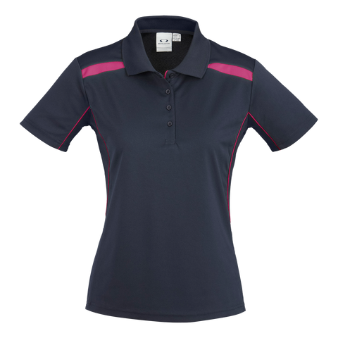 Womens United Polo, Colours: Navy / Magenta