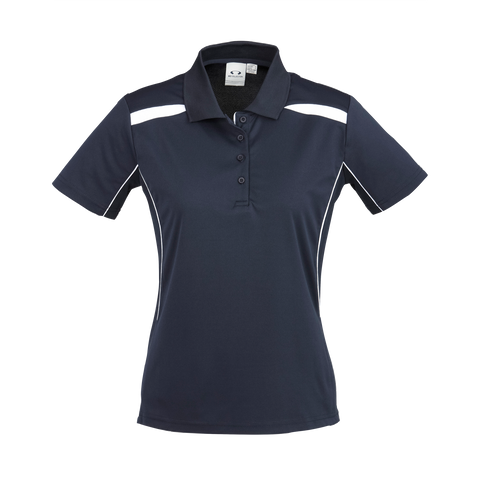 Image of Womens United Polo - Colours Navy / White