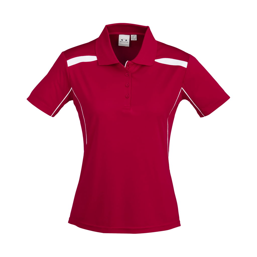 Womens United Polo - Colours Red / White