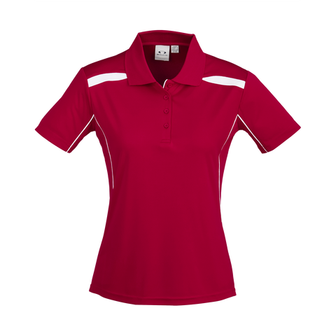 Womens United Polo, Colours: Red / White