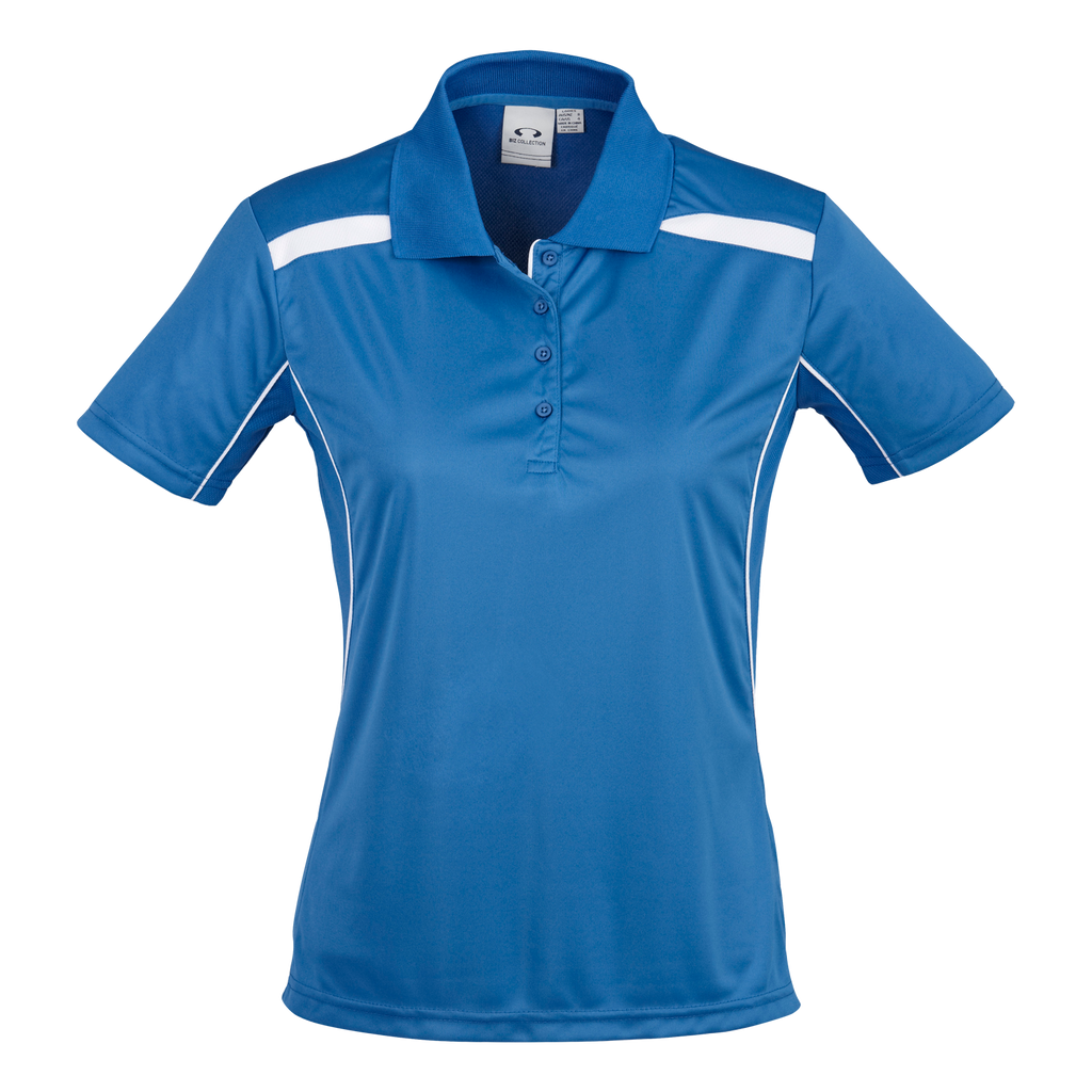 Womens United Polo - Colours Royal / White