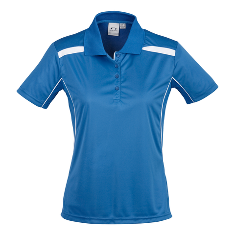Womens United Polo, Colours: Royal / White