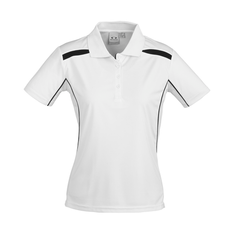 Womens United Polo - Colours White / Black