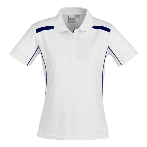 Image of Womens United Polo - Colours White / Navy