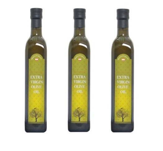 3 bottles * 500ml Zeitouna Extra Virgin Olive Oil
