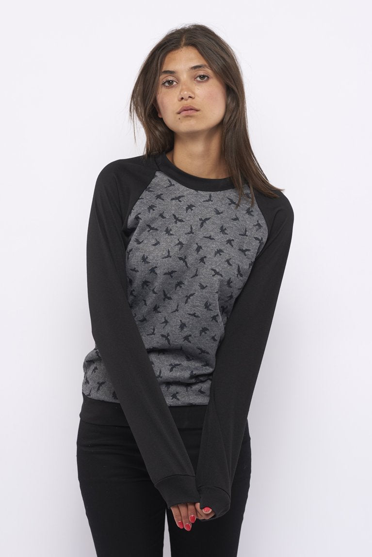 Tolsing Chris Bluse / Grey birds
