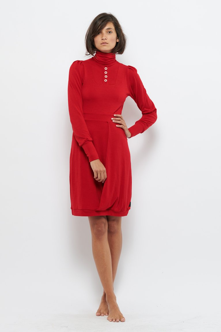 Tolsing Ane Kjole / Red Wool