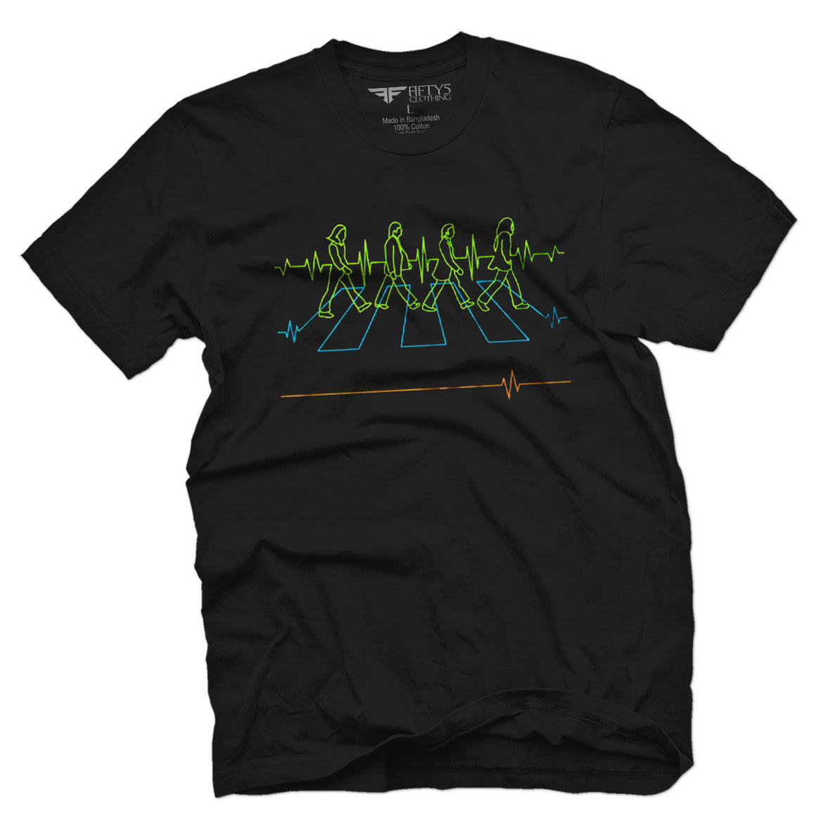 Fifty5 Clothing Abbey Road Electrocardiography Men's T Shirt