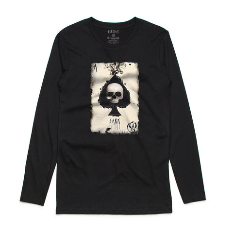 Aces Dark Mens Long Sleeve T-Shirt