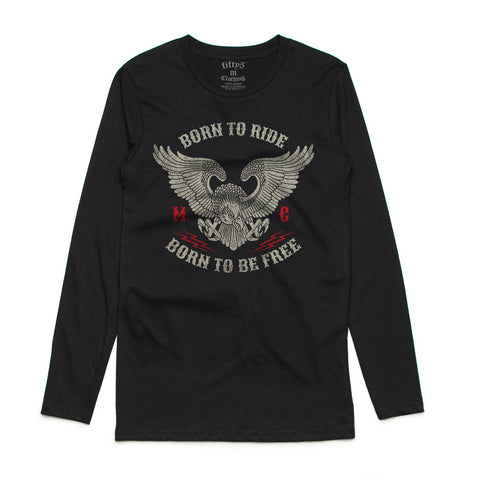 Born To Ride Mens Long Sleeve T-Shirt