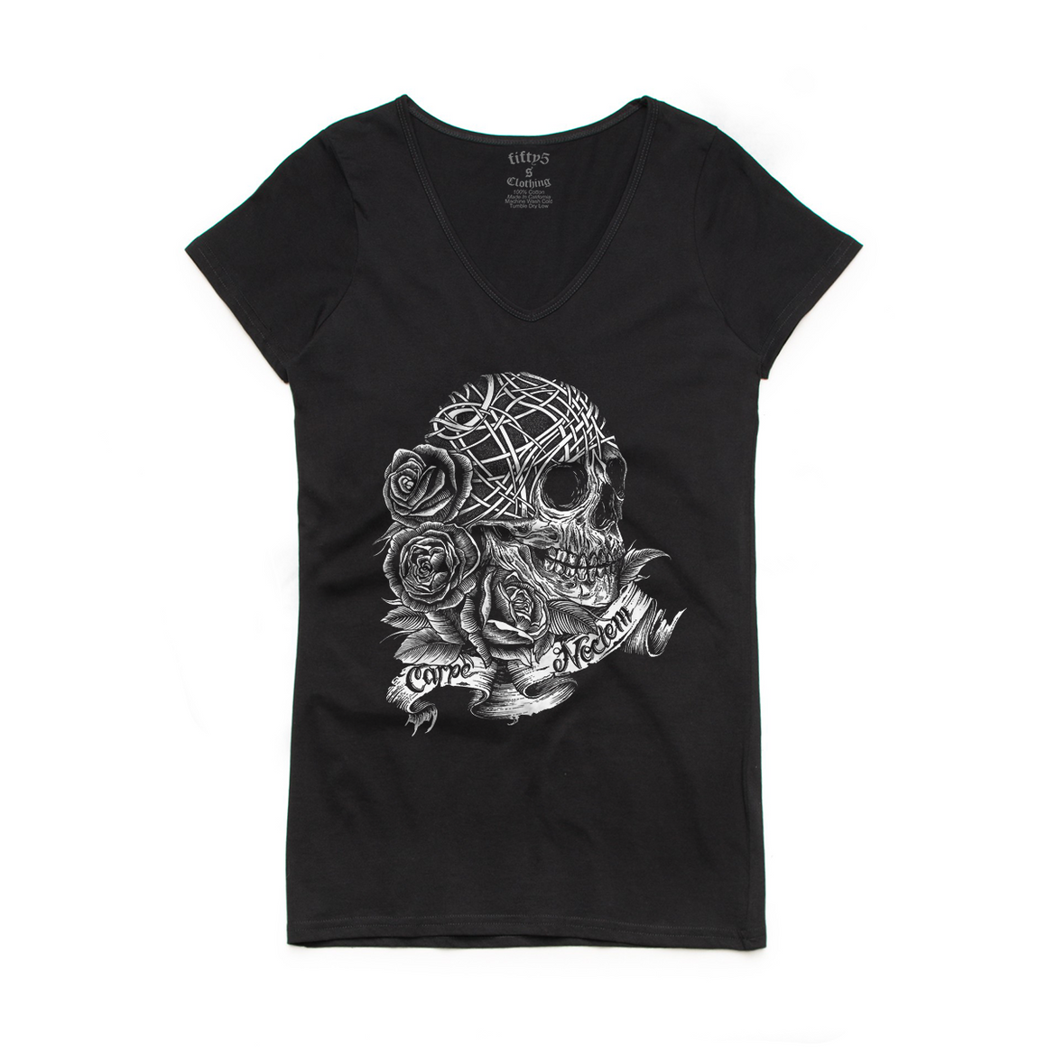 Carpe Noctem Seize The Night Women's Bevel V Neck T-Shirt