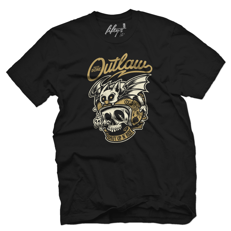 Biker Bone Outlaw Men's T Shirt