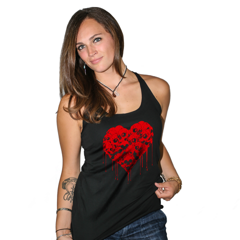 Bleeding Heart Women's Racerback Tank Top