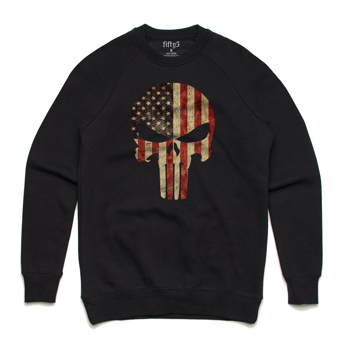 American Flag Punisher Premium Box Crew Unisex Sweatshirt