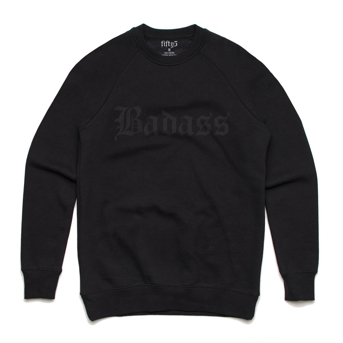 BadAss Black on Black Premium Box Crew Unisex Sweatshirt