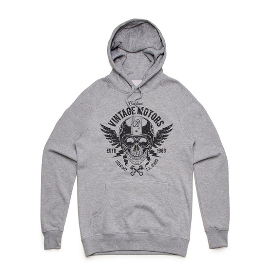 Custom Vintage Motors Mid Weight Pullover Hoodie