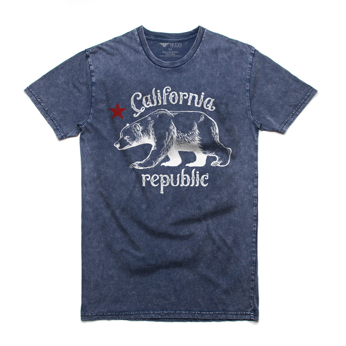 Vintage California Republic Men's Stone Wash T Shirt